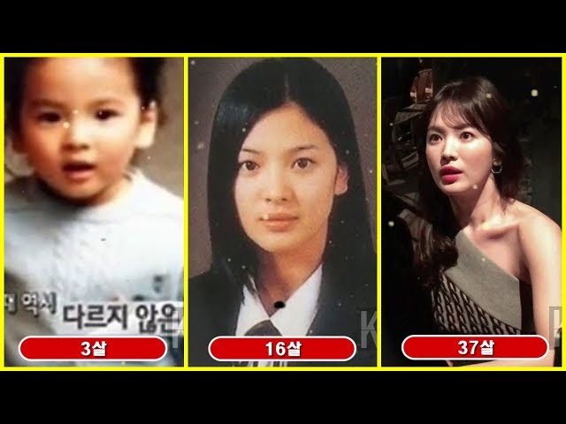 Смотреть видео Song Hye Kyo Transformation from 1 to 37 Years Old
