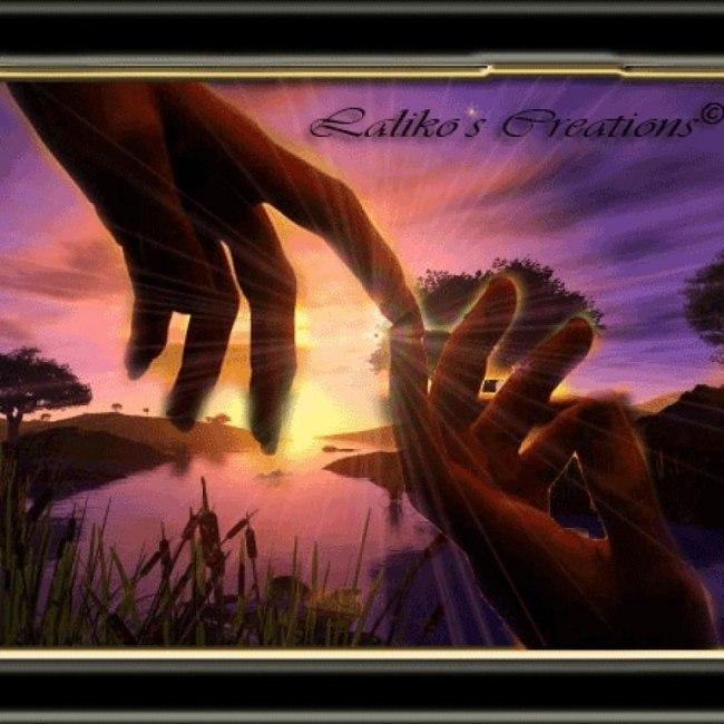 Открытка рука друга