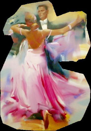 Танцующая пара картинки анимация вальс