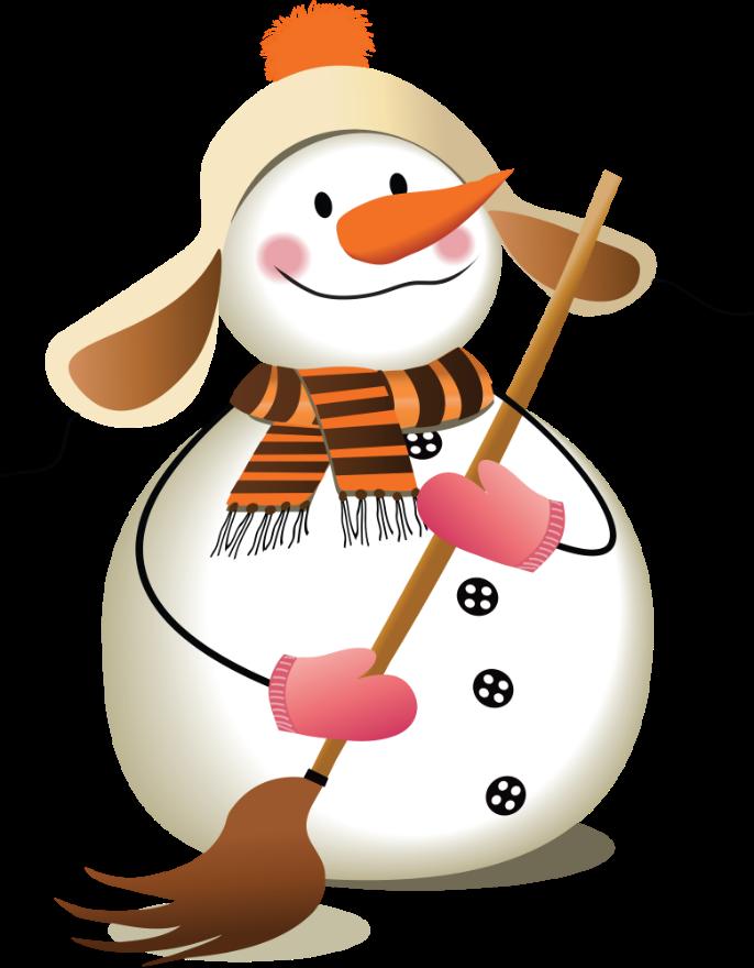 веселый снеговик картинка на прозрачном фоне