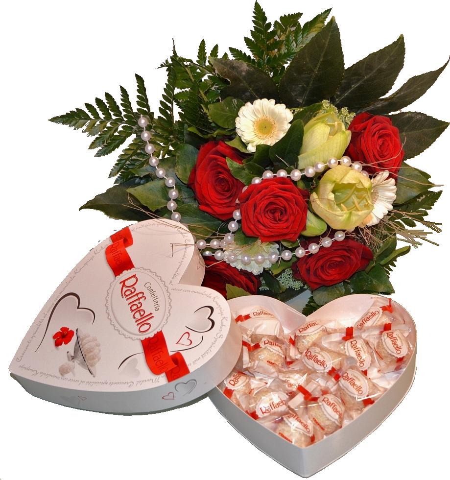Открытки розы и конфеты с днем рождения