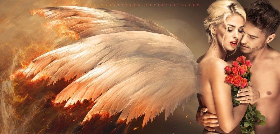 Картинки женщина ангел и мужчина