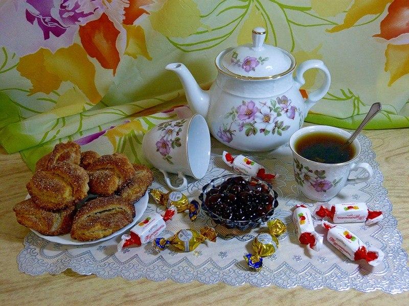 Оладушек смешные, открытка к чаю