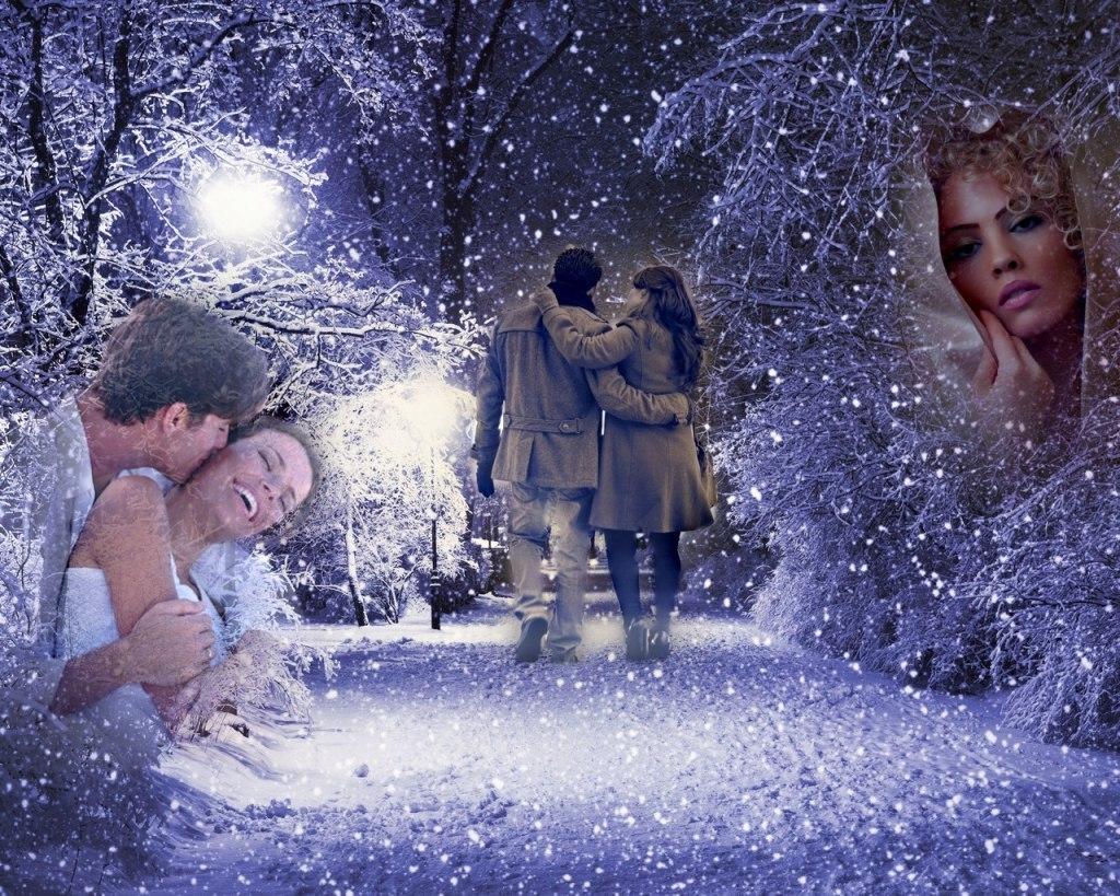 Зимняя прогулка с любимым картинки гифы