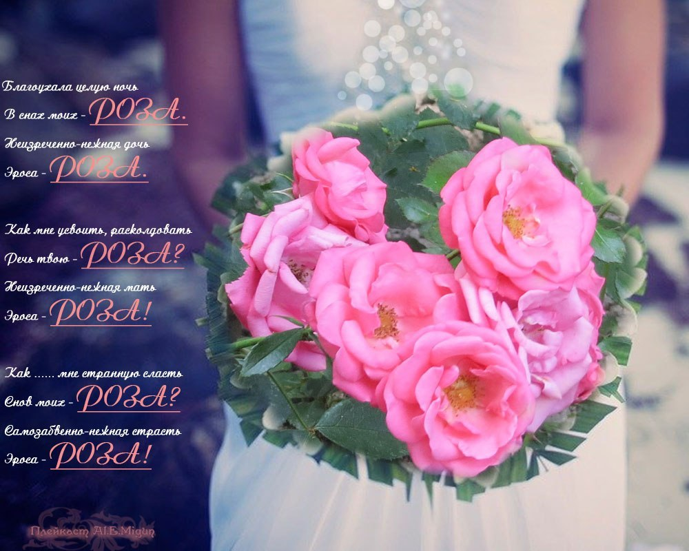 Картинки с розами стихи