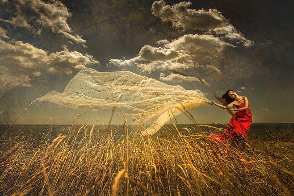 картинка человек на ветру цветом