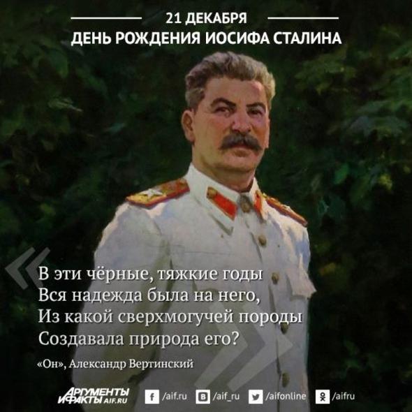 Открытка, сталин с днем рождения открытка фото