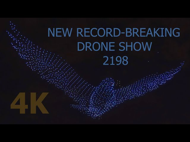 Смотреть видео World record breaking drone holographic light show in Saint Petersburg Russia 4K / Шоу дронов СПБ