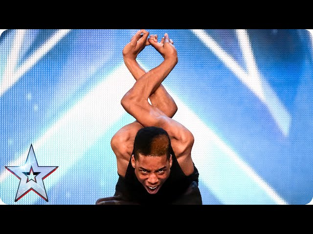 Смотреть видео Will the Judges bend over backwards for Bonetics? | Britain′s Got Talent 2015