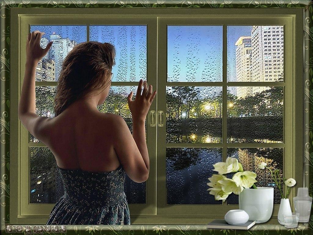 Цитаты, открытка за окном