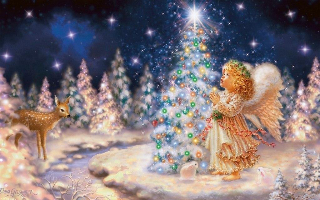 Необычные, рождественские ангелы картинки