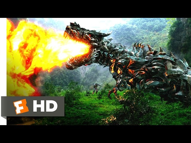 Смотреть видео Transformers: Age of Extinction (7/10) Movie CLIP - Dinobots Join the Fight (2014) HD