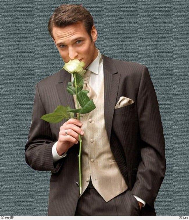 люблю картинки мужчин с букетами пике