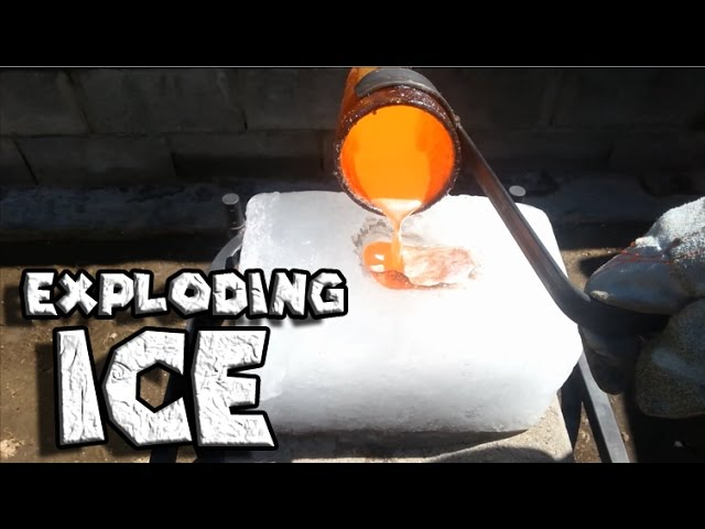 Смотреть видео Molten Copper vs Ice Exploding Ice