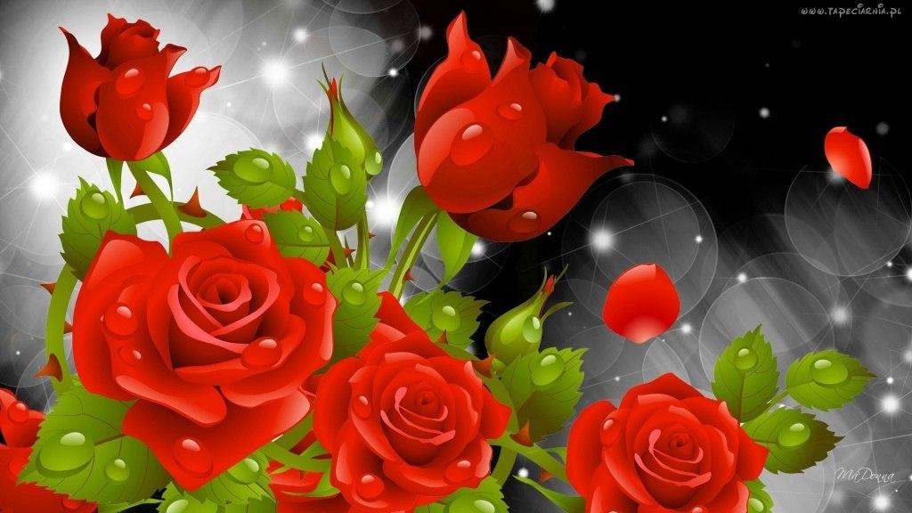 Обои на телефон розы блестящие новые