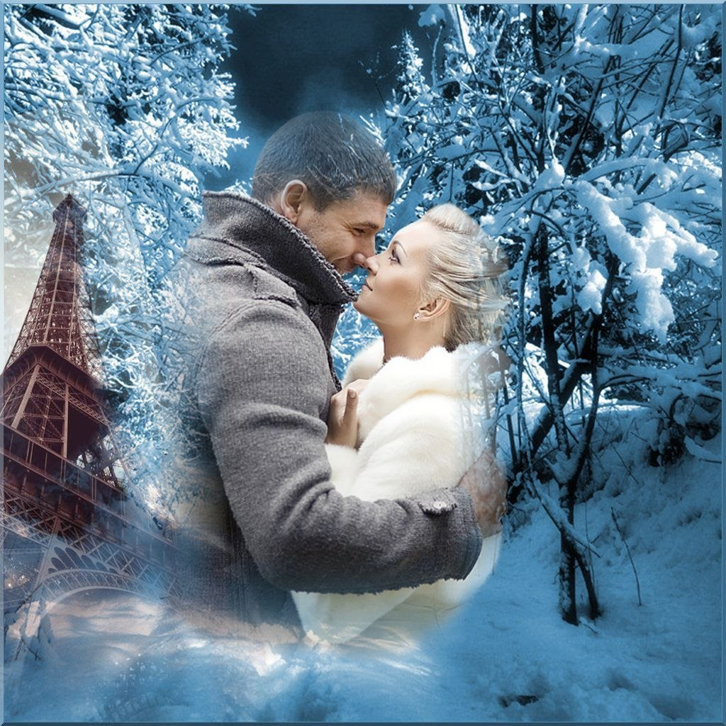 Зима гифки красивые картинки мужчина и женщина