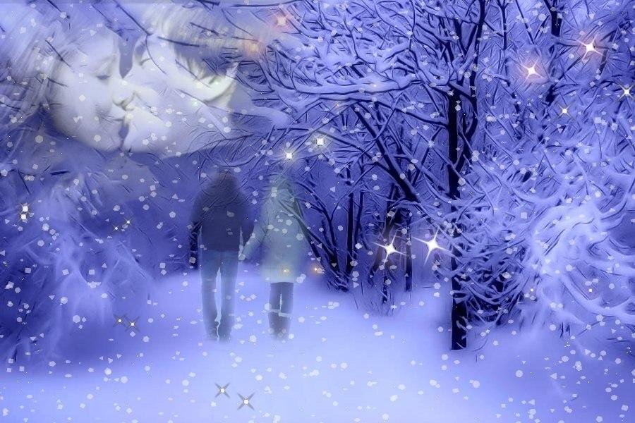 Снег кружится анимация